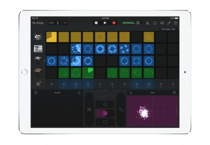 GarageBand for iOS - Live Loops - iPad