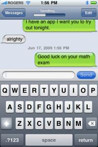 Texting Nicole