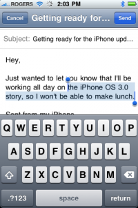 iPhone OS 3.0 Text