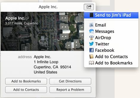 Maps Send to iPad