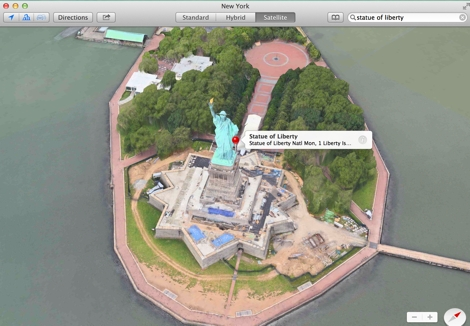 Maps Statue of Liberty