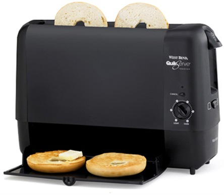 Compact Slide Through Toaster Works In 90 Seconds