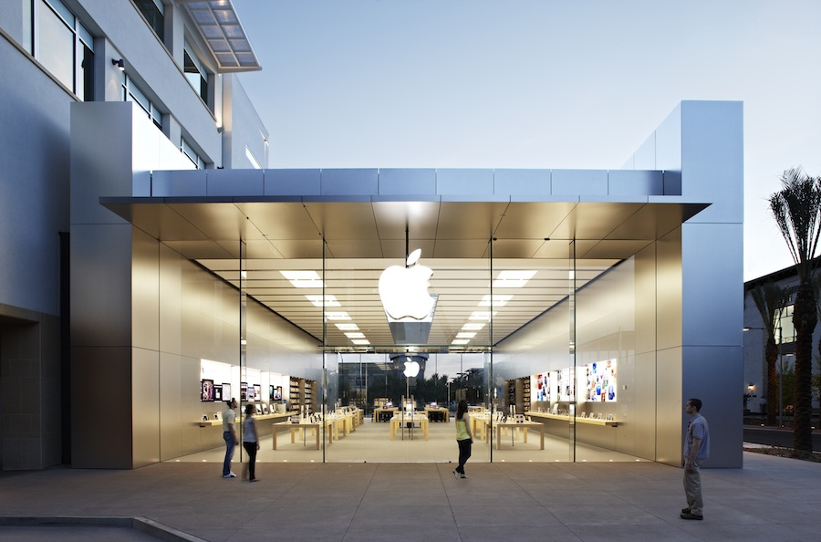 Scottsdale apple store showcases updated retail design for Retail shop exterior design