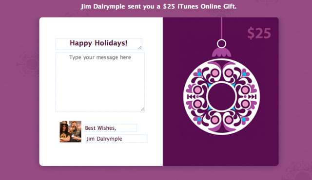 iTunes gift card on Facebook