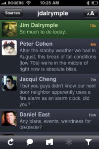 Twitterrific on the iPhone